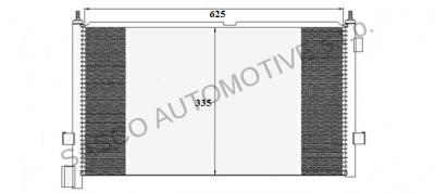 THERMOTEC Chladič klimatizace Volvo FM12
