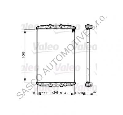 VALEO Chladič vody DAF 95XF