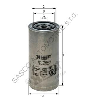 HENGST Filtr paliva DAF LF H18WK05