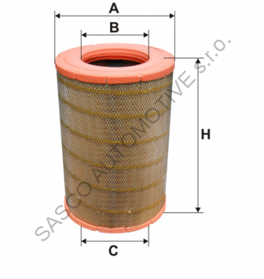 BOSS Filter Filtr vzduchu SCANIA BS01-114