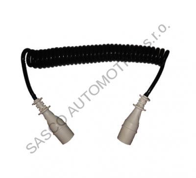 Propojovací spirálový kabel, 6x díra, 1x kolík, 4,5m