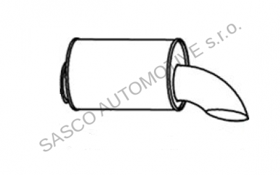DINEX Trubka výfuku výstupní s doznívačem VOLVO, RVI Premium, Magnum DXI